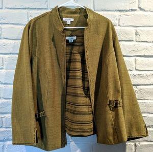 2 peice set: blazer jacket & top. Olive green, 18